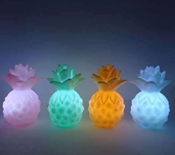 Kit 4 Luminosos Abacaxi Led Enfeite Aniversário Decor