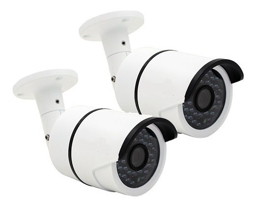 Kit 2 Camera De Segurança Cctv Infra Ahd Jortan 2 Mp 8816