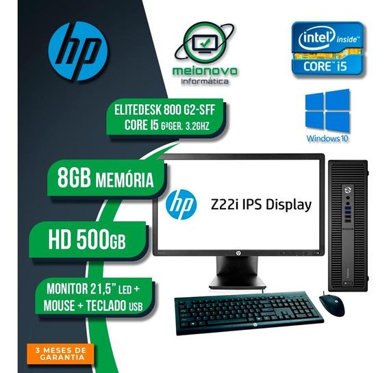 Cpu Hp Elitedesk 800 G2 - I5 3.2g 8g 500g + Monitor 21.5