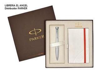 Boligrafo Parker Urban Premium + Anotador De Regalo