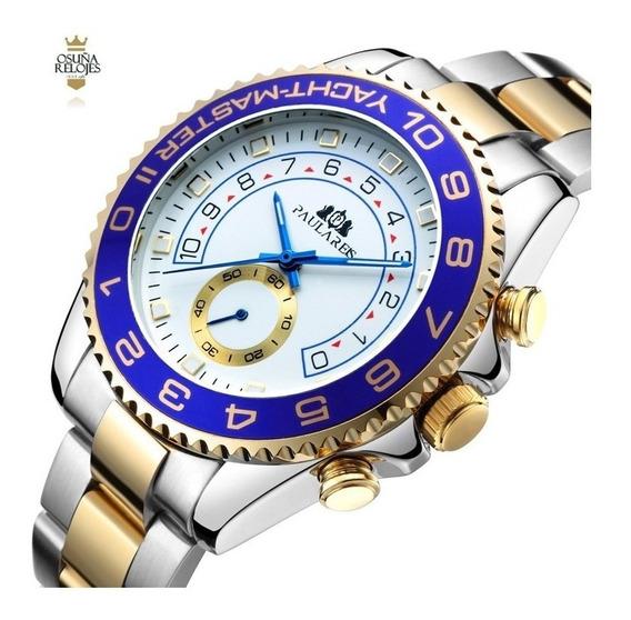 Relógio Masculino Automático Paulareis Elegante De Luxo