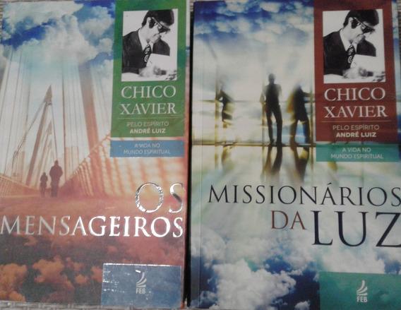 4 Livros Chico Xavier - Os Mensageiros - Missionários Da Luz