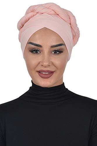 Jersey Shawl Para Mujer Algodón Cabeza Wrap Instantáneo Mod