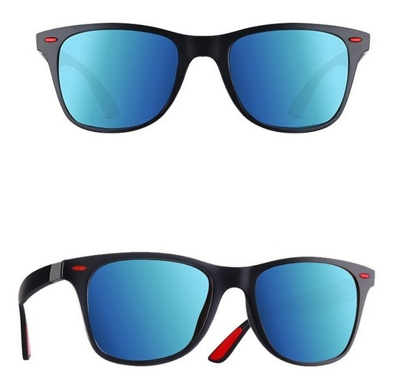 Óculos De Sol Quadrado Lente Polarizada Com Anti Reflexo