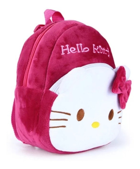 Mochila Infantil Pelucia Hello Kitty Rosa Menor Preço
