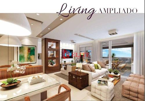 Apartamento Com 2 Dormitórios À Venda, 103 M² Por R$ 805.354,48 - Jardim Aquarius - São José Dos Campos/sp - Ap3708