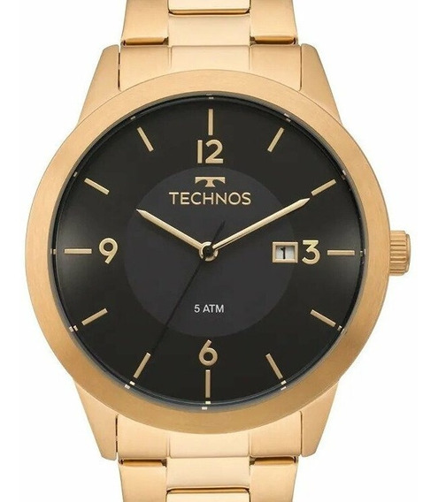 Relógio Technos Masculino Stell Dourado