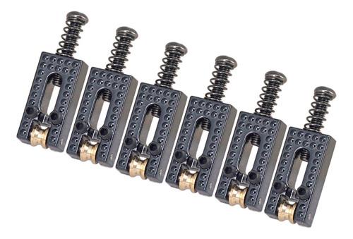 Imagen 1 de 5 de 6 Pcs Rodillo Cuerda Saddle Puente Para Guitarra Eléctrica