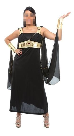 Fantasia Deusa Grega Egìpicia Cleópatra Luxo Adulta