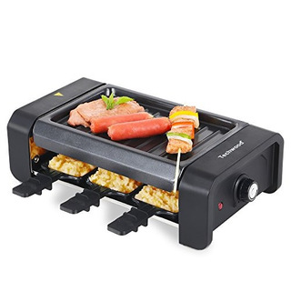 Techwood Electric 6person Raclette Grilladjustable Control D