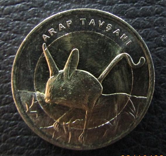 Turquía Moneda Bimetálica Jerbo 1 Lira Turca 2016