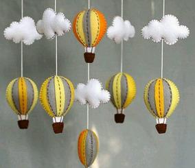 Mobile De Teto Balões Em Feltro