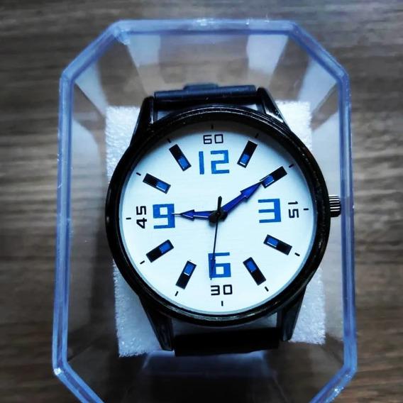 Relógio Masculino Alpha - White Blue - Pronta Entrega