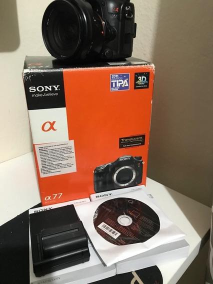Câmera Profissional Sony Apha A77v Mais Lente Em Perfeito Es