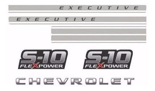 Imagem 1 de 5 de Jg Faixas S10 2009 2010 2011 Flex Power Executive Cab.dupla