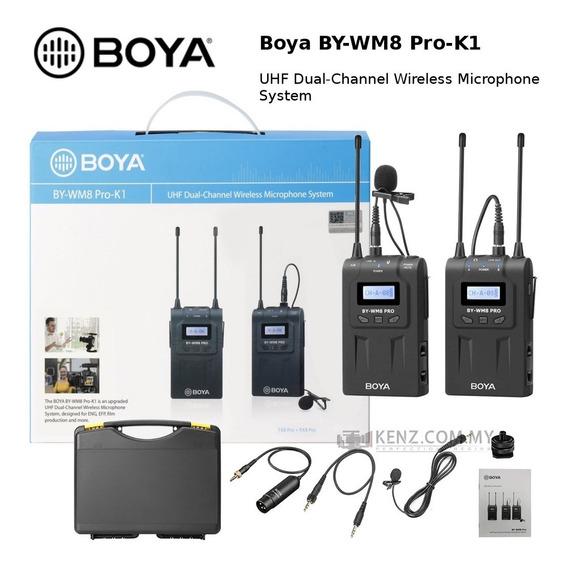 Microfone Boya Lapela By-wm8 K1 Pro Lojista Retirada