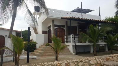 Casa Lote + 3 Lindas Casas Frente Al Mar. Playa - Tolú