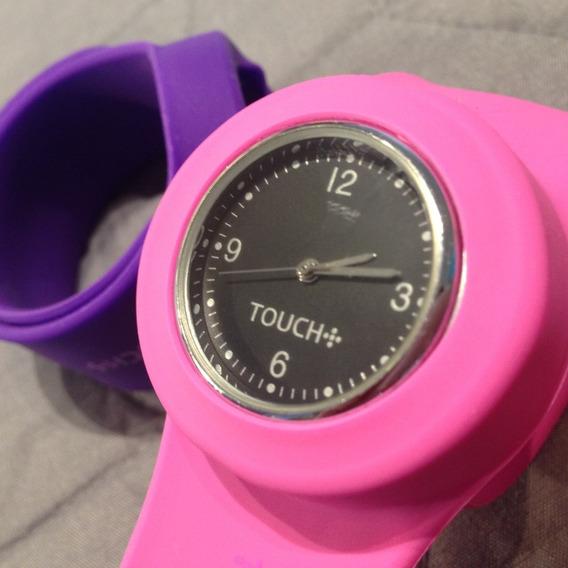 Relógio Marca Touch C/ 07 Pulseiras - Orginal