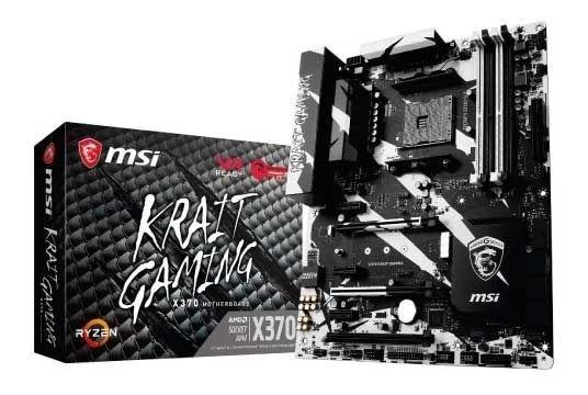Placa Mae Msi X370 Krait Gaming Ddr4 Am4 Chipset Amd X370