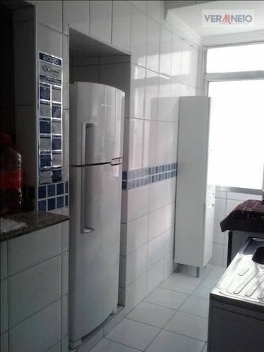Kitnet Com 1 Dormitório À Venda, 33 M² Por R$ 130.000,01 - Vila Guilhermina - Praia Grande/sp - Kn0325