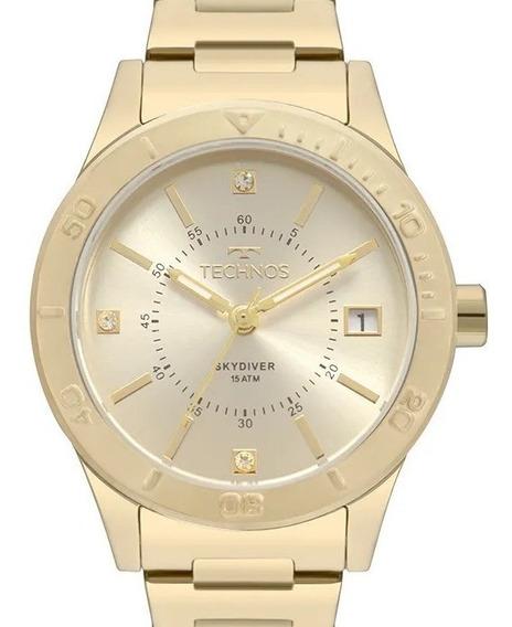 Relógio Technos Feminino Skydiver Dourado - 2115mor/4x