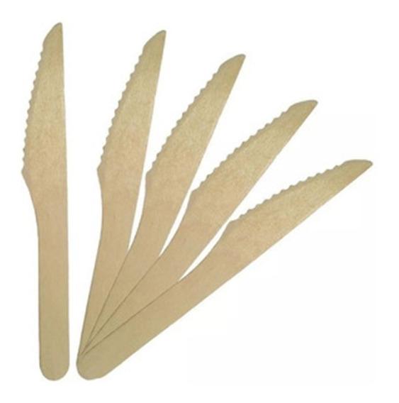 Cuchillo Bambu Ecológicos Descartables Eventos X 100 Caba
