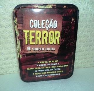 Lata Ou Estojo Coleção Terror - Com 5 Super Dvds (232)