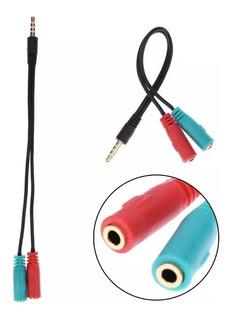 Splitter 3,5mm Para Auriculares De Audio Microfono Audifono