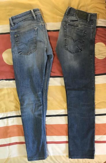 Jeans Mezclilla Diesel Originales ( El Precio X Los 2 )