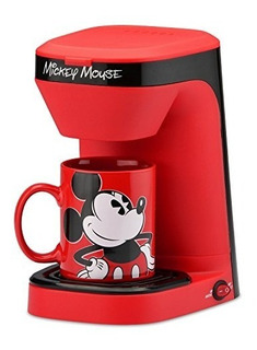 Disney Mickey Mouse Cafetera Electrica Personal + Mug