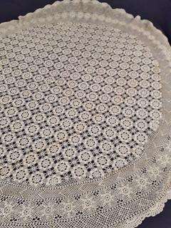 Espectacular Mantel O Carpeta Redonda Con Tejido A Crochet