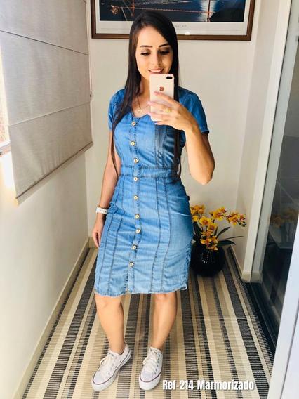 Vestido Feminino. Moda Casual, Roupas Jeans. Ref.214
