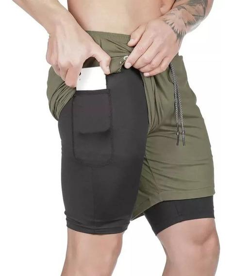 Short Fitness Butz Lycra Doble Fondo Porta Toalla 2019