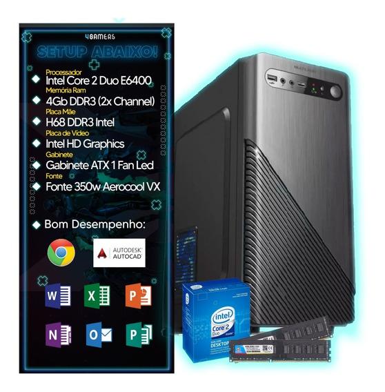 Computador Pc Intel 4gb Hd 500gb Monitor 17 Wind 10 Teclado