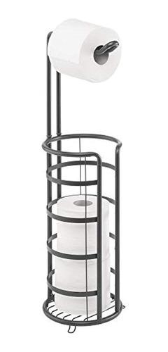 Mdesign - Soporte Y Dispensador De Papel Higiénico De Metal,