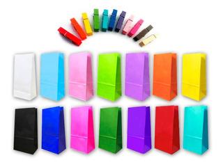 10 Bolsas Papel Lisas Souvenir + 10 Mini Broches - Lollipop