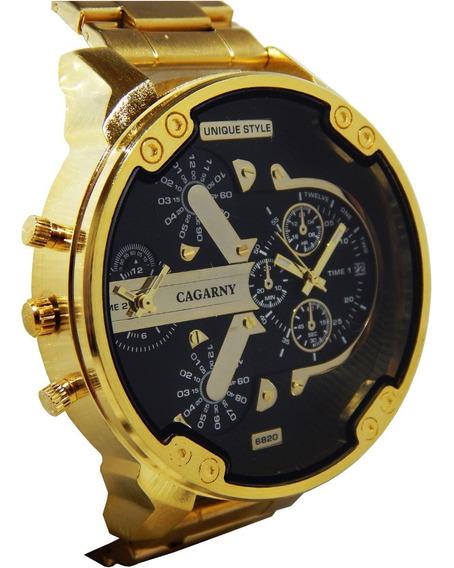 Relógio Masculino Cagarny 6820 Promoção Frete Grátis