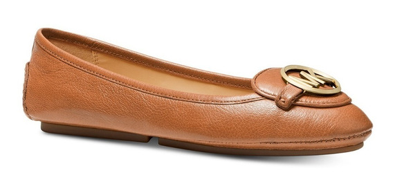 Zapato Michael Kors Mk Logo Lillie Moc Flats Orig + Regalo