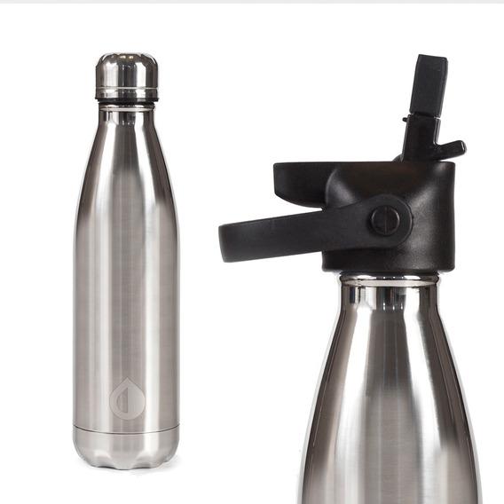 Botella Térmica Reutilizable Deportiva Acero Inox 500 Ml + Pico Cebador   Pura Vita   Empresa B Certificada Anmat
