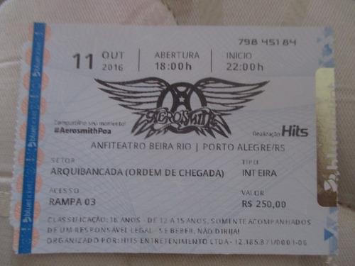 Ingresso Aerosmith Porto Alegre (beira-rio 2016)