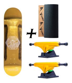 Kit Skate Profissional Hondar, Shape + Truck + Lixa Visible