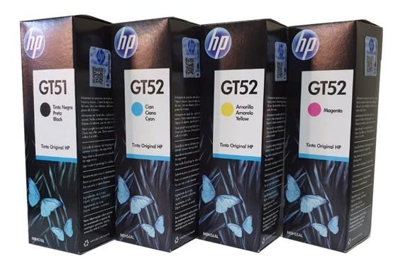 Kit Refil Tinta Hp Gt51 Preto + Gt52 Color P/ Gt 5822