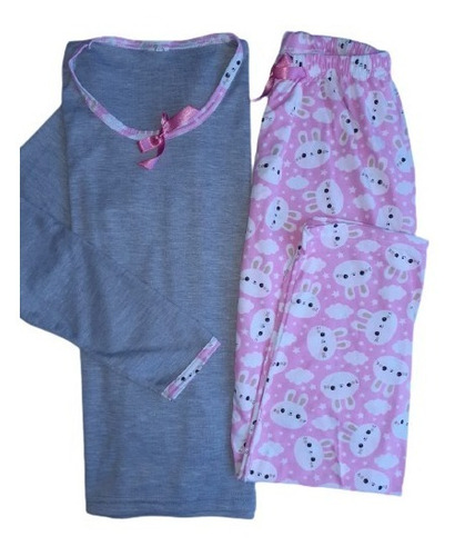 Pijama Pantalón Y Blusa Manga Larga