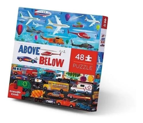 Imagen 1 de 2 de Rompecabezas Puzzle 48 Piezas Arriba  Abajo Transportes Full