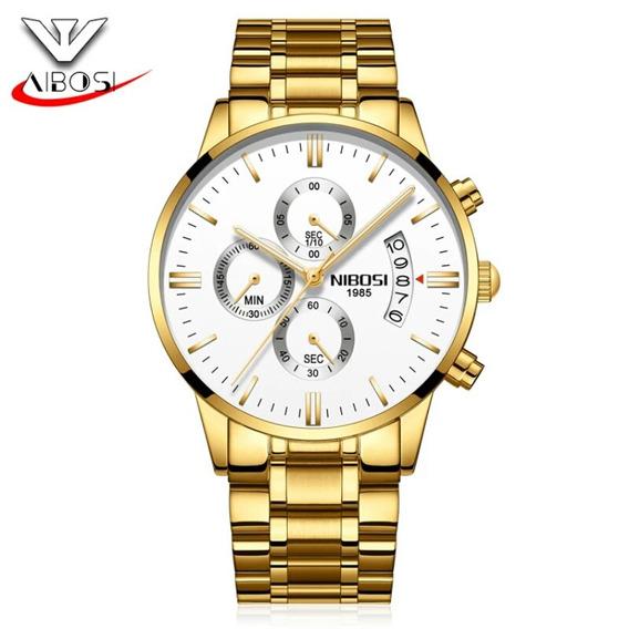 Relógio Masculino Nibosi Ni2309gw Cronógrafo Completo