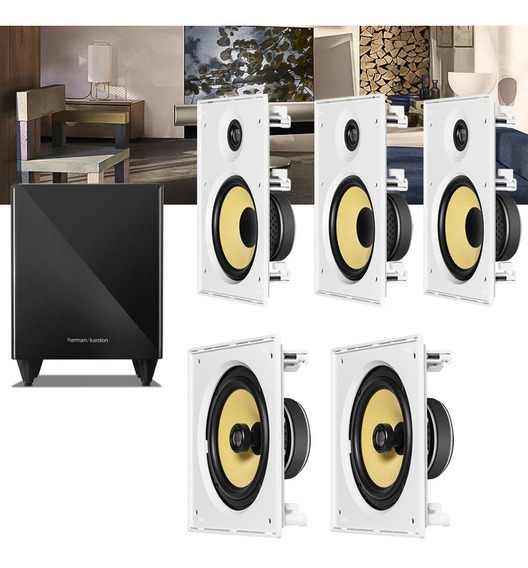 Kit Home Theater 5.1 Jbl Caixa Embutir Ci8r + Ci8s + Sub 210