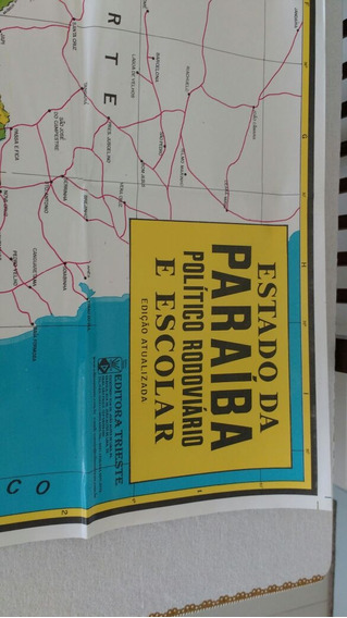 Mapa - Estado Da Paraíba -formato 84 X 113 Cm.
