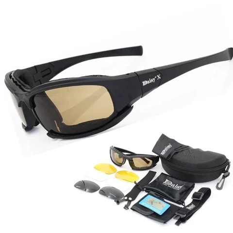Óculos Esportivo Daisy X7 Polarizado 4 Lentes Proteção Uv400