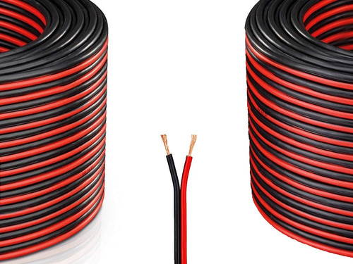 Cable Para Bafle 2 X 2.5 Mm Rojo Y Negro Rollo X Metro Pr