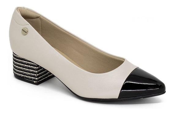 Sapato Salto Médio Modare Ultraconforto 7340.203 Creme